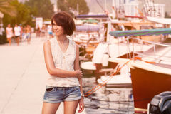 Toned Photo of Trendy Young Girl Stock Photos