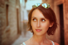 Toned Photo of Trendy Young Woman Royalty Free Stock Photo