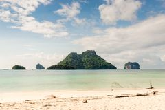 Toned picture, seascape beautiful views. Of Thailand stock photography