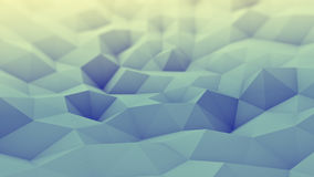 Toned polygonal geometric background 3D render. Toned polygonal geometric background. Abstract 3D render with DOF Stock Photos