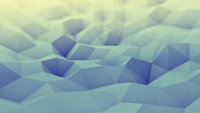 Toned polygonal geometric background 3D render Stock Photos
