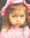Toned portrait of c sad little girl. Toned portrait of cute sad little girl Stock Photography