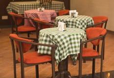 Toned shot of italian restaurant interior Stock Image