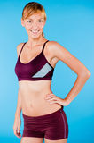 Toned Woman in Sportswear Royalty Free Stock Photo