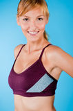 Toned Woman in Sportswear Royalty Free Stock Photos
