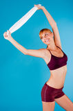 Toned Woman in Sportswear Royalty Free Stock Images