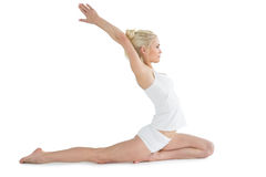 Toned young woman stretching hands backwards Stock Photography
