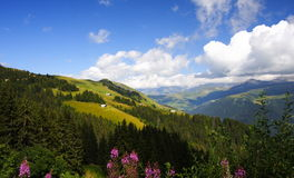 Toneel alpen Royalty-vrije Stock Foto