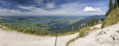 Toneel Beierse bergmening Stock Afbeelding