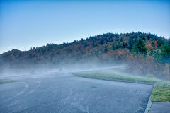 Toneel Blauw Ridge Parkway Appalachians Smoky Mountains-de herfstla Royalty-vrije Stock Foto's