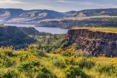 Toneel de lentelandschap van de riviercanion royalty-vrije stock fotografie