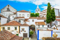 Toneel de zomergezicht in Obidos, Leiria-District, Portugal Royalty-vrije Stock Afbeelding