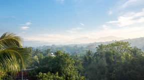 Toneel groene bergen anb wildernissen, Ceylon stock afbeeldingen