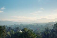 Toneel groene bergen anb wildernissen, Ceylon royalty-vrije stock afbeeldingen
