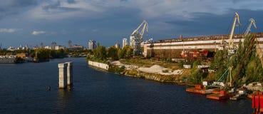 Toneel industrieel district van Kiev Stock Foto