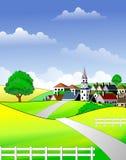 Toneel landelijk landschap Royalty-vrije Stock Afbeeldingen