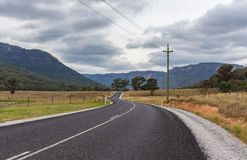 Toneel Landelijke weg, NSW, Australië Stock Afbeelding