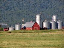 Toneel mening van een boerderij van Oregon. Royalty-vrije Stock Afbeeldingen