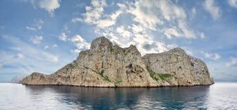 Toneel mening van Eiland Dragonera (Spanje) Royalty-vrije Stock Foto's
