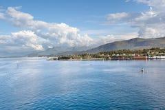 Toneel mening van haven, Alesund (Noorwegen) Stock Afbeelding