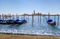 Toneel mening van het Bassin van San Marco, Venetië (Italië) Stock Foto