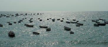 Toneel Meningen van Cadiz in Andalusia, Spanje - de Atlantische Oceaan stock fotografie
