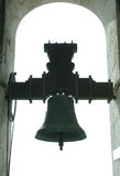 Toneel Meningen van Cadiz in Andalusia, Spanje - de Klokken van de Kathedraal royalty-vrije stock fotografie