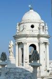 Toneel Meningen van Cadiz in Andalusia, Spanje - van Cadiz Kathedraal stock foto's
