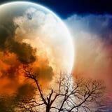 Toneel nachtlandschap Royalty-vrije Stock Afbeeldingen