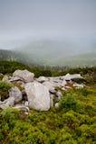 Toneel nevelige berg Royalty-vrije Stock Afbeeldingen
