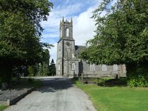 Toneel oude kerk stock fotografie
