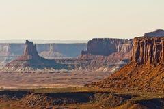 Toneel overzie van het Eiland van Canyonlands in de Hemel, Moab Woestijn Royalty-vrije Stock Foto's