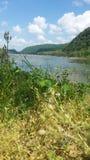 Toneel rivier stock afbeeldingen