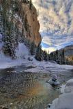 Toneel rivier in de winter Royalty-vrije Stock Afbeeldingen