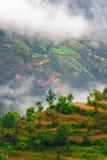 Toneel Tibetan landschap stock afbeeldingen
