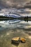 Toneel Twee Jack Lake Stock Foto