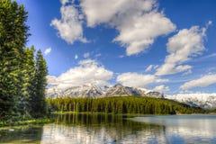 Toneel Twee Jack Lake Royalty-vrije Stock Afbeeldingen