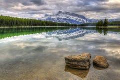Toneel Twee Jack Lake Stock Afbeelding