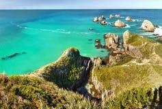 Toneel Vreedzame Oceaankust, Nieuw Zeeland Royalty-vrije Stock Foto