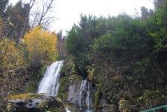 Toneel waterval in het bos Royalty-vrije Stock Foto