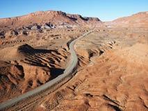 Toneel weg in Utah. Royalty-vrije Stock Foto's