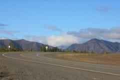 Toneel Weg Van Alaska Royalty-vrije Stock Foto's