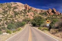 Toneel woestijnweg Stock Fotografie