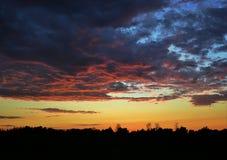 Toneel zonsondergang Stock Fotografie