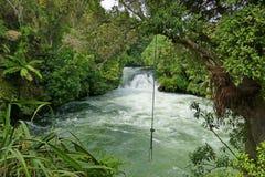 Toneel zwembad in wilde rivier royalty-vrije stock foto's