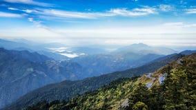 Toneelachtergrond van bergketens in Taiwan royalty-vrije stock fotografie