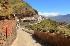 Toneelartenara, hoogste de bergdorp van Gran Canaria's r stock afbeelding