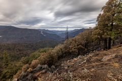 Toneelautumn view, Yosemite, Ca stock afbeelding