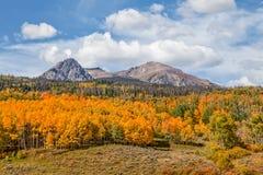 Toneelberglandschap in de Herfst Stock Afbeeldingen