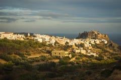 Toneelcityscape, Kythira, Griekenland Stock Foto